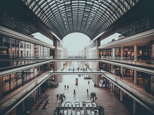 nákupy v Barlíně