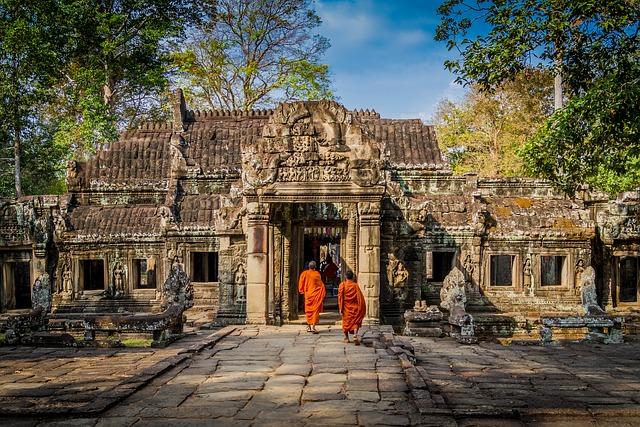 chrám v kambodži